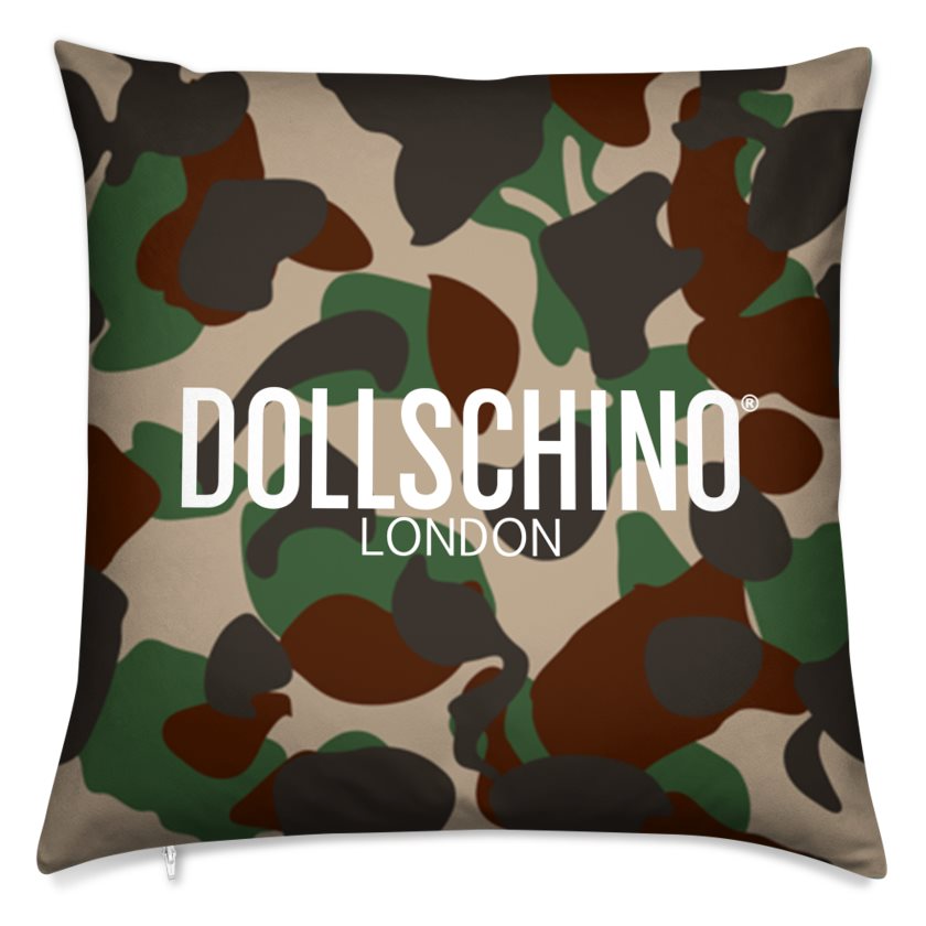 Dollschino London Camo Cushion