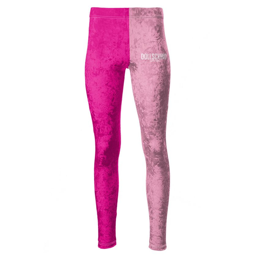 Dollschino London Baby Pink & Hot Pink Velour Leggings