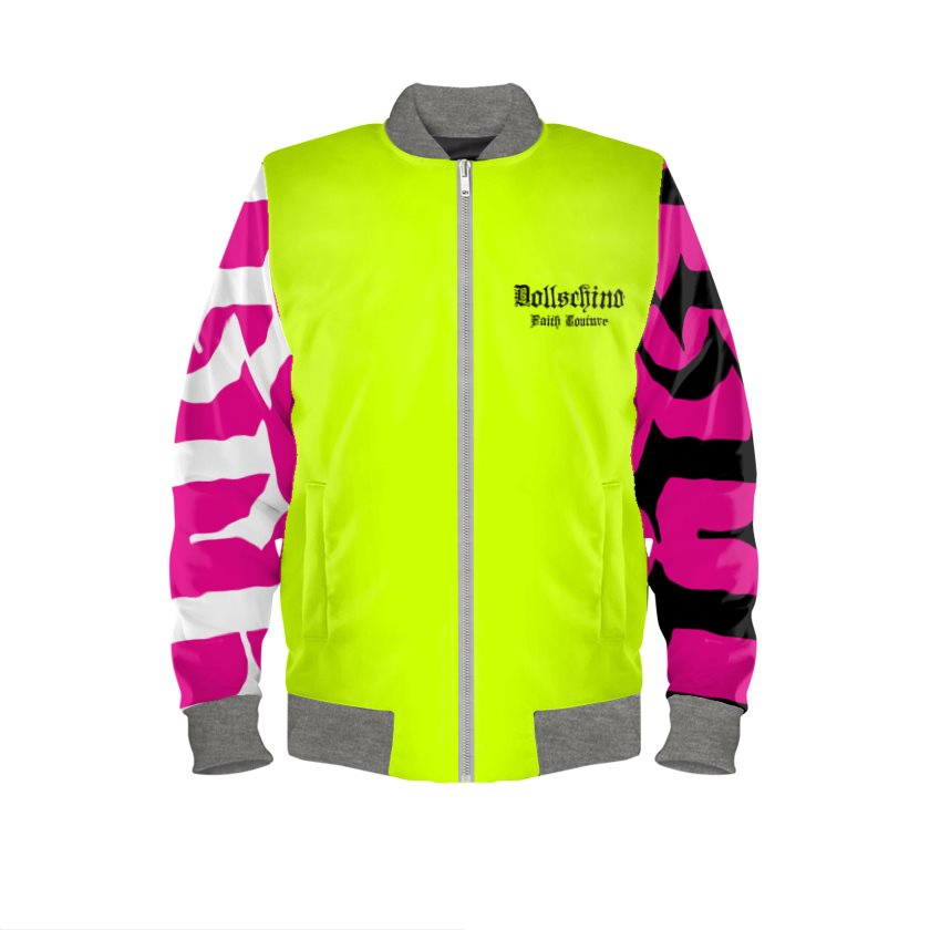 Dollschino London Faith Couture Neon Cocktail Bomber Jacket