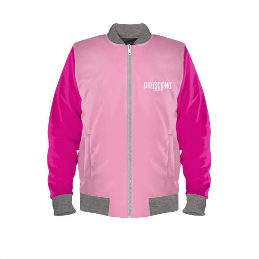 Baby Pink & Hot Pink POP ART Bomber Jacket