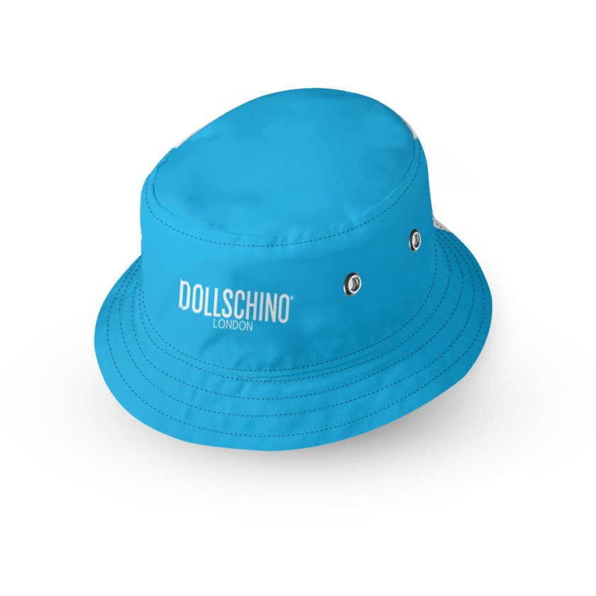 Dollschino London Bubblegum Pink & Baby Blue Kids Bucket Hat