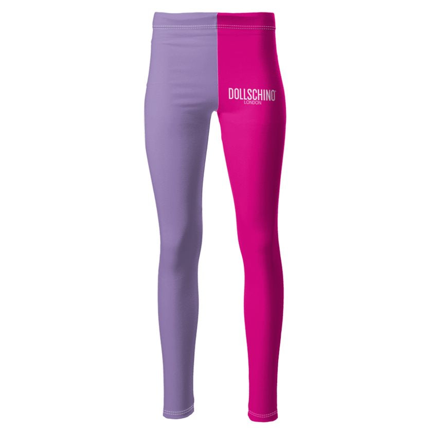 Dollschino London Hot Pink & Purple Ponte Jersey Leggings