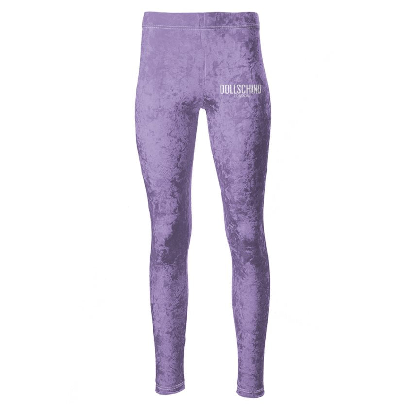 Dollschino London Purple Velour Leggings