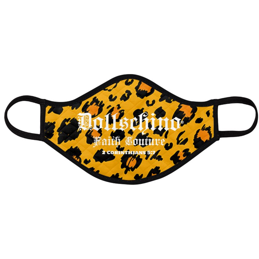 Dollschino London Faith Couture Leopard Face Mask