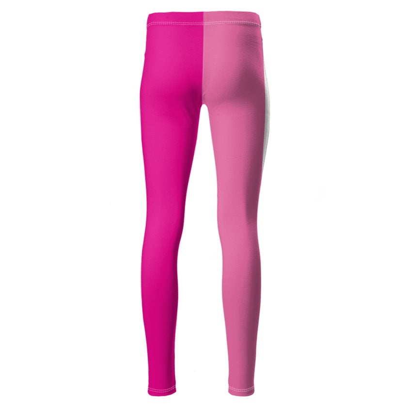 Dollschino London Hot Pink & Bubblegum Pink Ponte Jersey Leggings