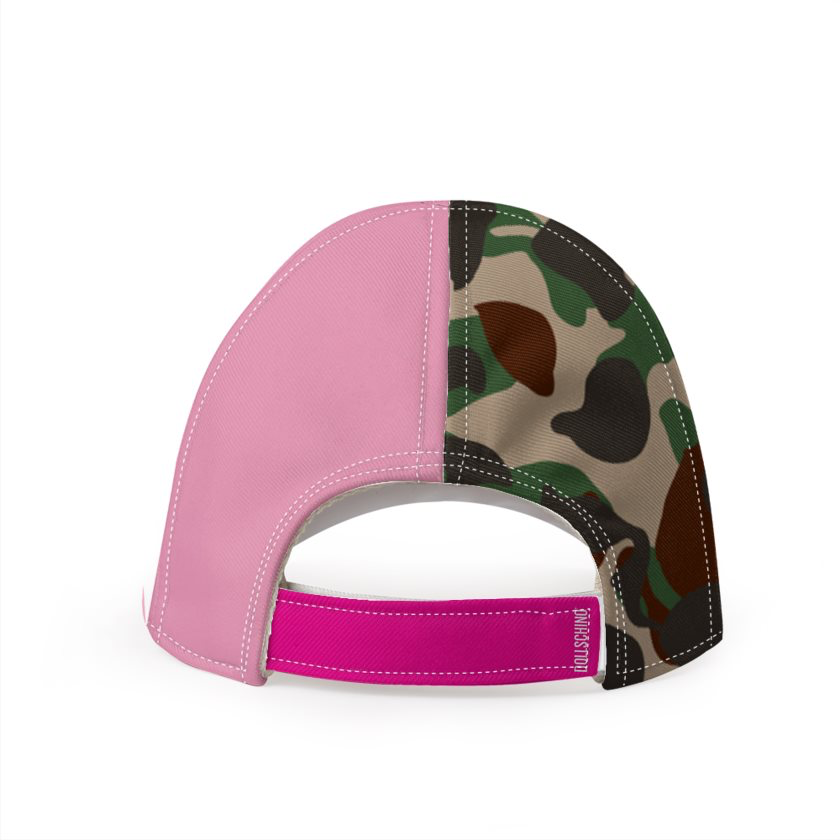 Dollschino London Camo & Bubblegum Pink Baseball Cap