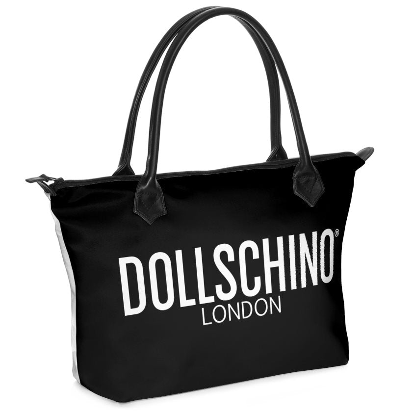 Dollschino London Black & White Handbag