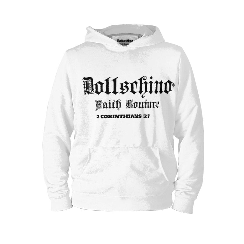 Dollschino London Faith Couture White Pull-Over Hoodie