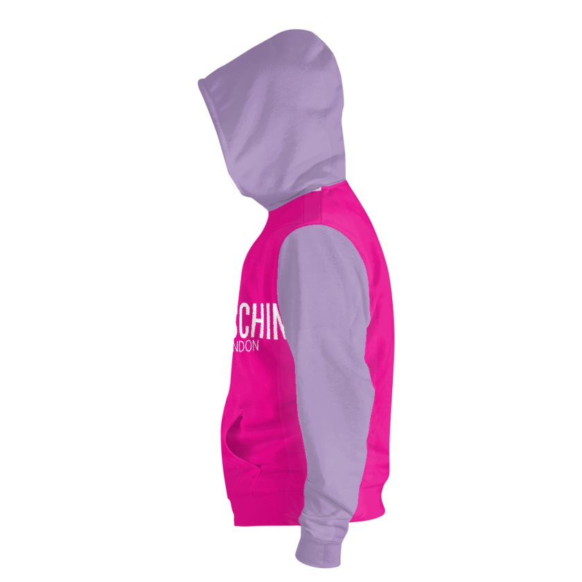 Dollschino London Hot Pink & Purple Pull-Over Hoodie
