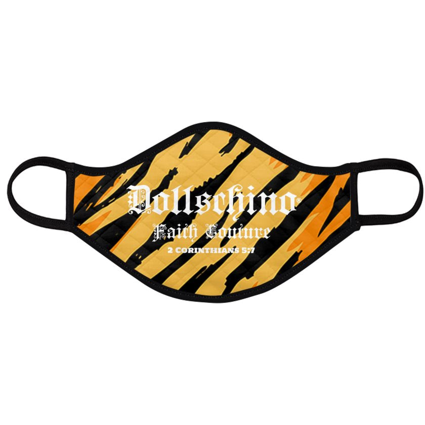 Dollschino London Faith Couture Black & Tiger Face Mask