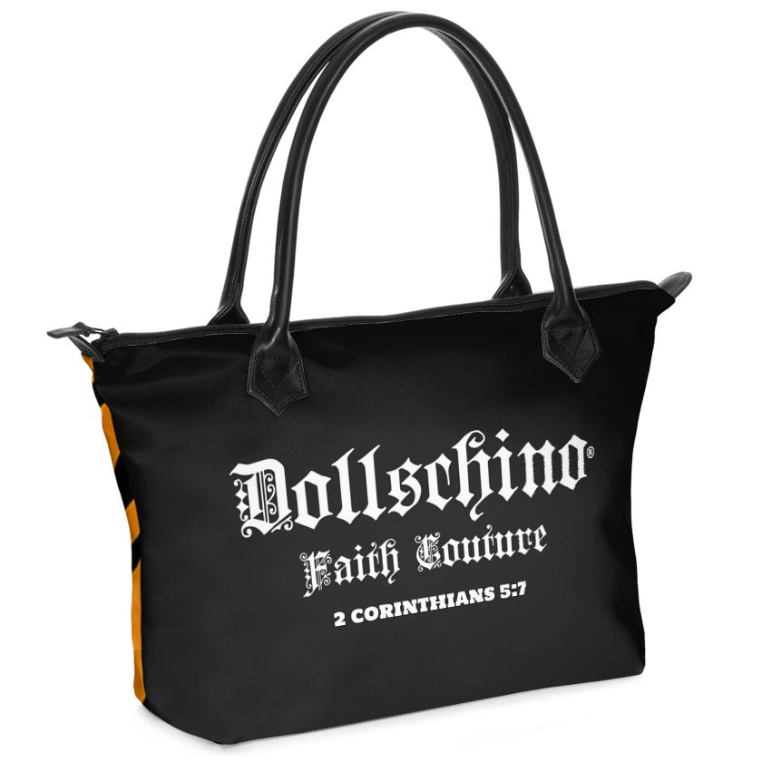 Dollschino London Faith Couture Black & Tiger Handbag