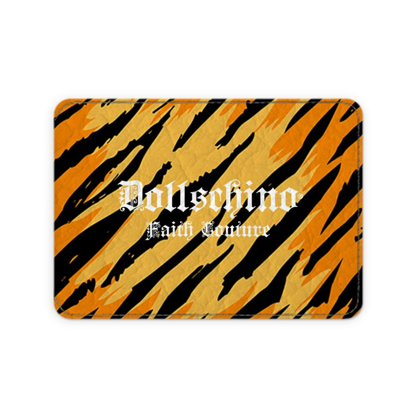 Dollschino London Faith Couture Tiger Leather Card Case