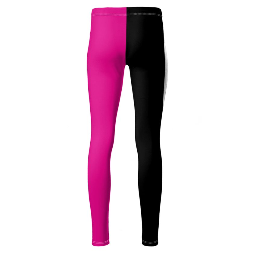 Dollschino London Hot Pink & Black Ponte Jersey Leggings