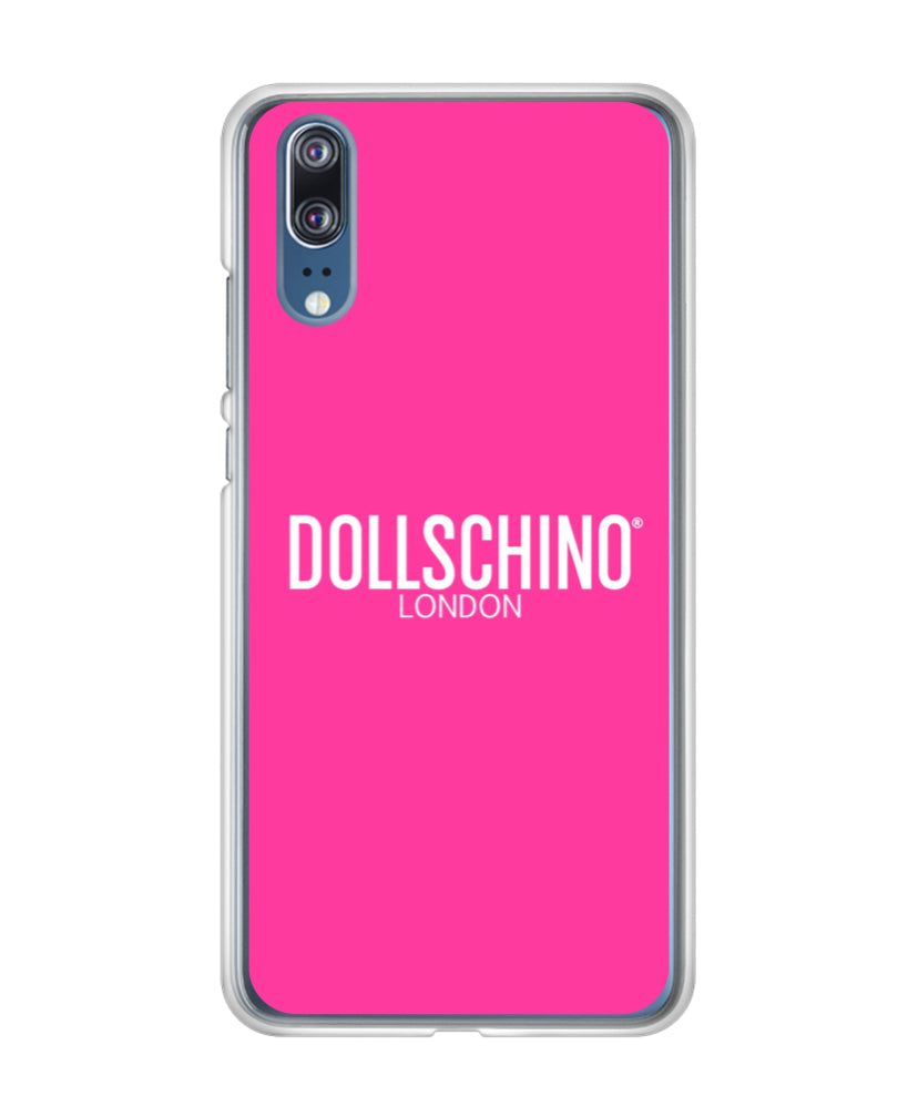 Dollschino London Bubblegum Pink Silicone Huawei Phone Case
