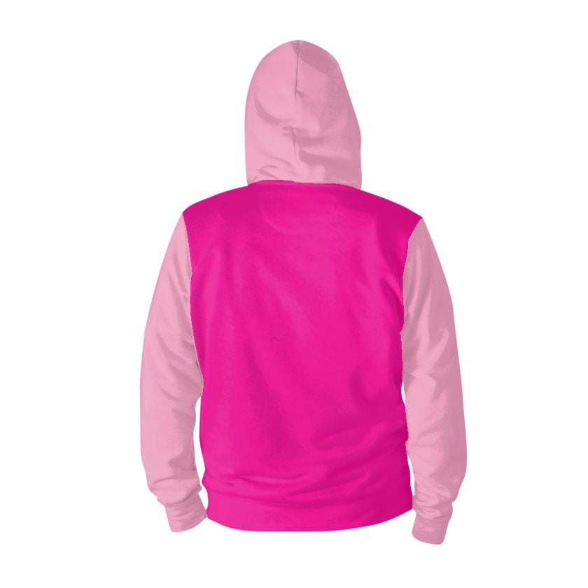 Dollschino London Hot Pink & Baby Pink Pull-Over Hoodie