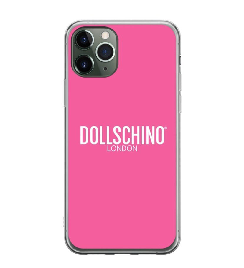 Dollschino London Bubblegum Pink Silicone iPhone Case