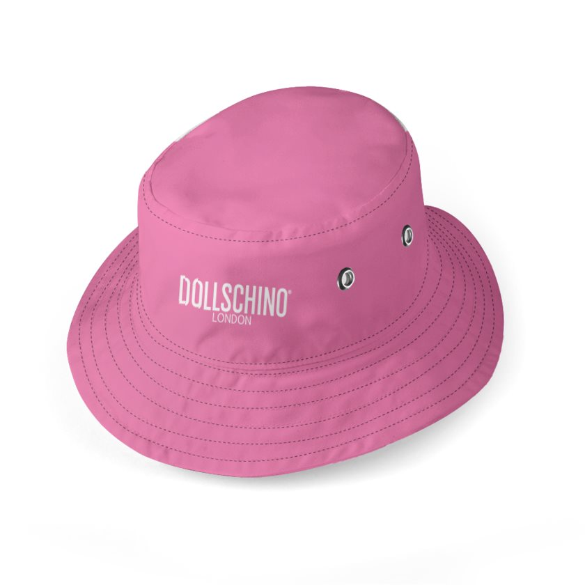 Dollschino London Bubblegum Pink & Camo Reversible Bucket Hat