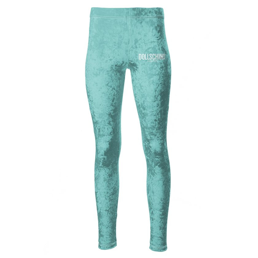 Dollschino London Mermaid Peppermint Velour Leggings
