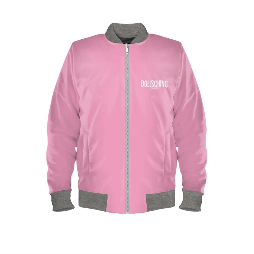 Baby Pink & Grey POP ART Bomber Jacket