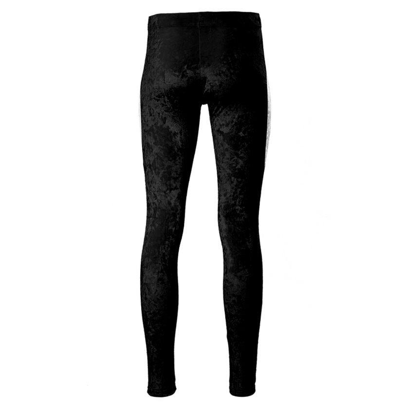 Dollschino London Jet Black Velour Leggings