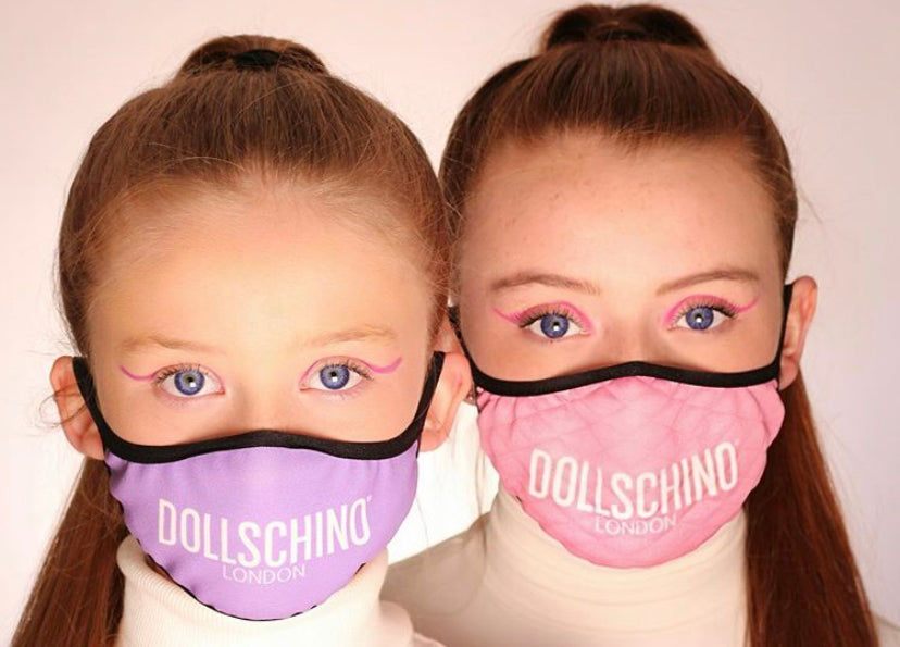 Dollschino London Kids Purple Face Mask