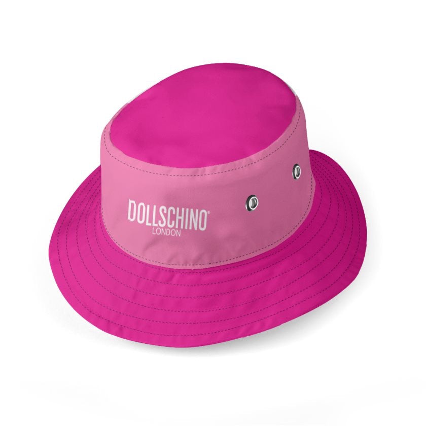 Dollschino London Hot Pink & Bubblegum Pink Reversible Bucket Hat