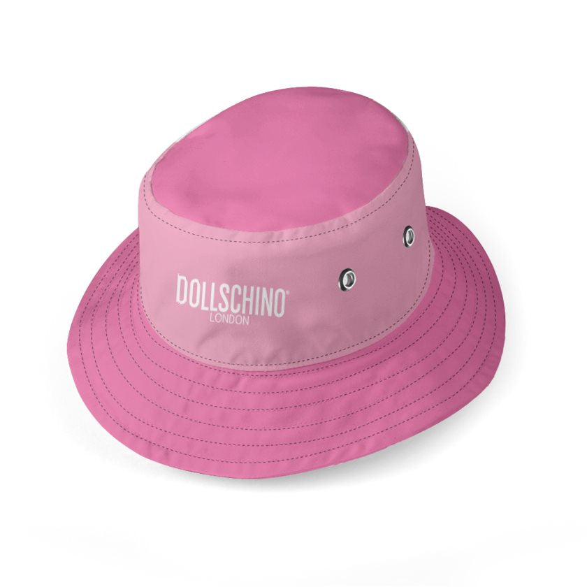 Dollschino London Bubblegum Pink & Baby Pink Bucket Hat