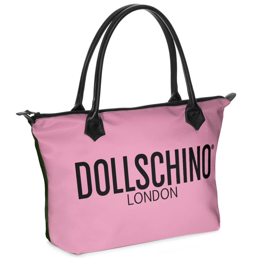 Dollschino London Forest Green & Pink Handbag