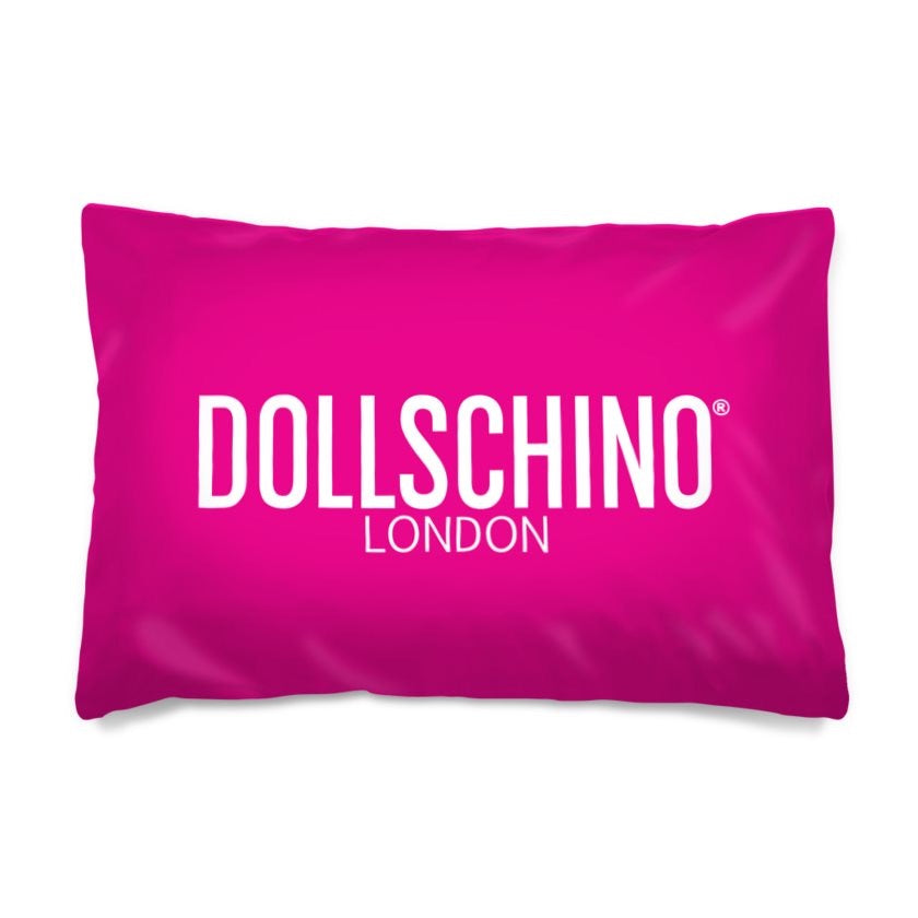 Dollschino London Hot Pink Pillow Case
