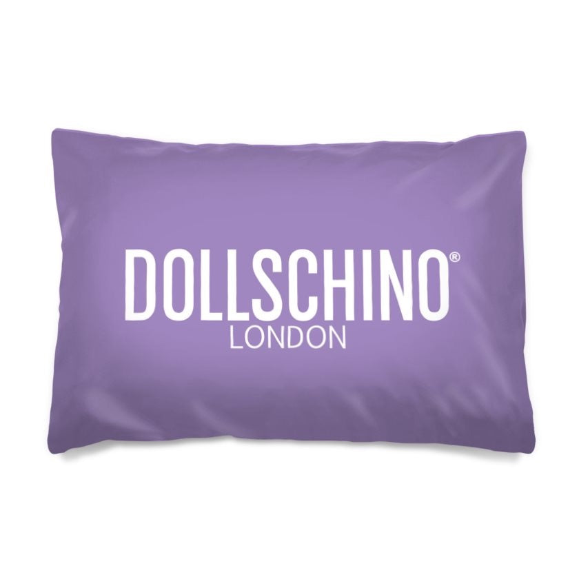 Dollschino London Purple Pillow Case