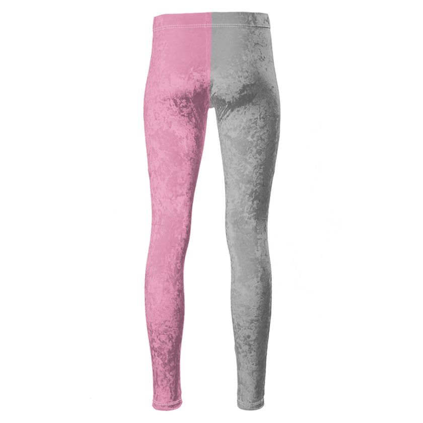 Dollschino London Baby Pink & Grey Velour Leggings