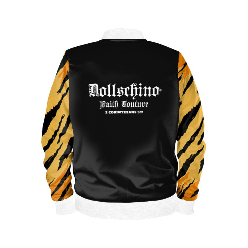 Dollschino London Faith Couture Black & Tiger Bomber Jacket