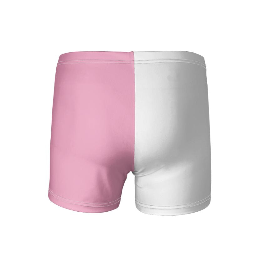Men's Baby Pink & White Swimming Trunks
