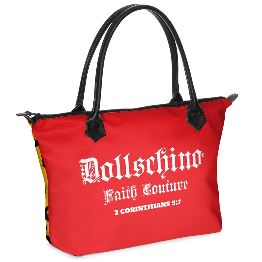 Dollschino London Faith Couture Red & Leopard Handbag