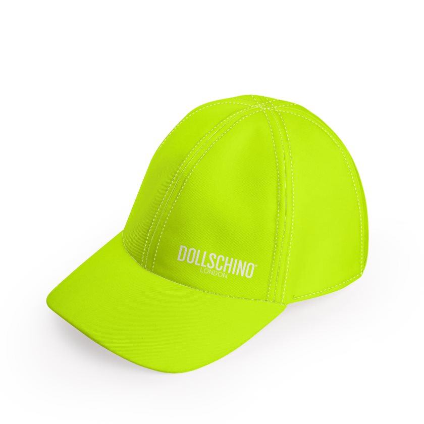 Dollschino London Fluorescent Neon Yellow Baseball Cap