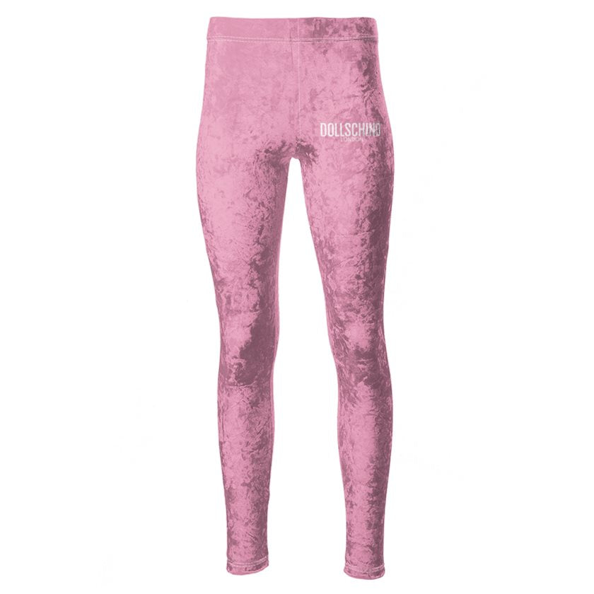 Dollschino London Baby Pink Velour Leggings
