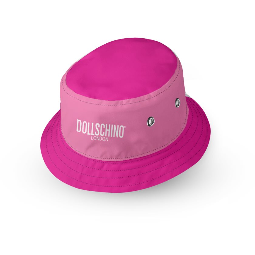 Dollschino London Bubblegum Pink & Hot Pink Kids Reversible Bucket Hat