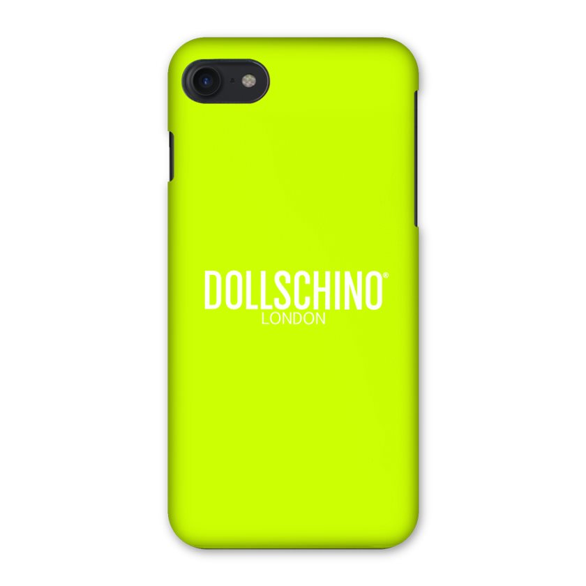 Dollschino London Fluorescent Neon Yellow iPhone Case