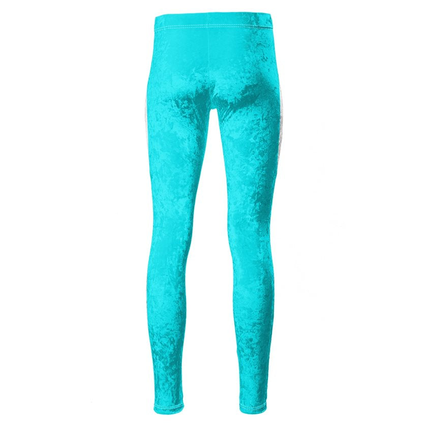Dollschino London Sky Blue Velour Leggings