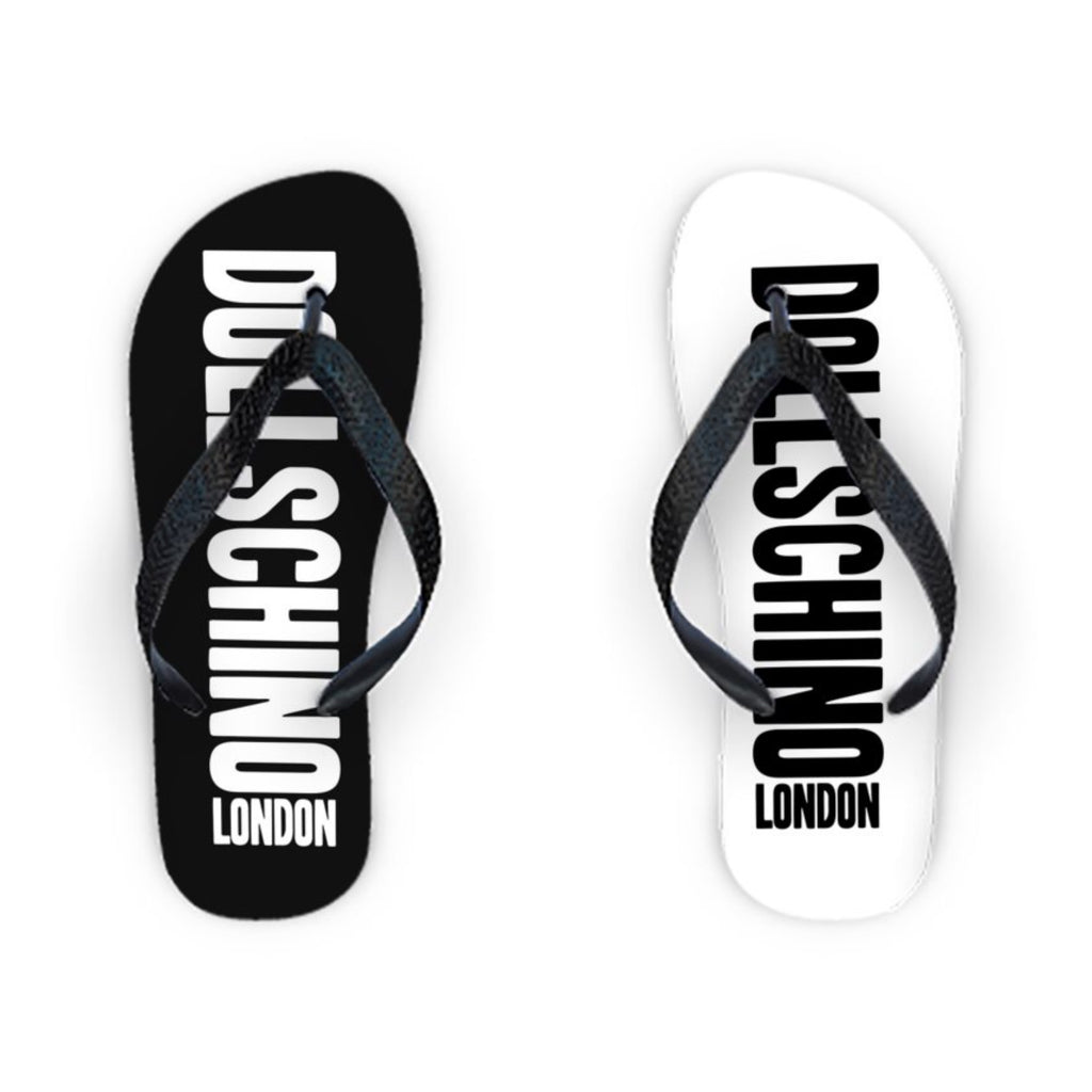 Black & White Graffiti Flip Flops