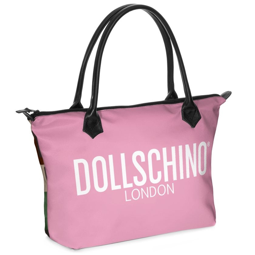 Dollschino London Camo & Baby Pink Handbag