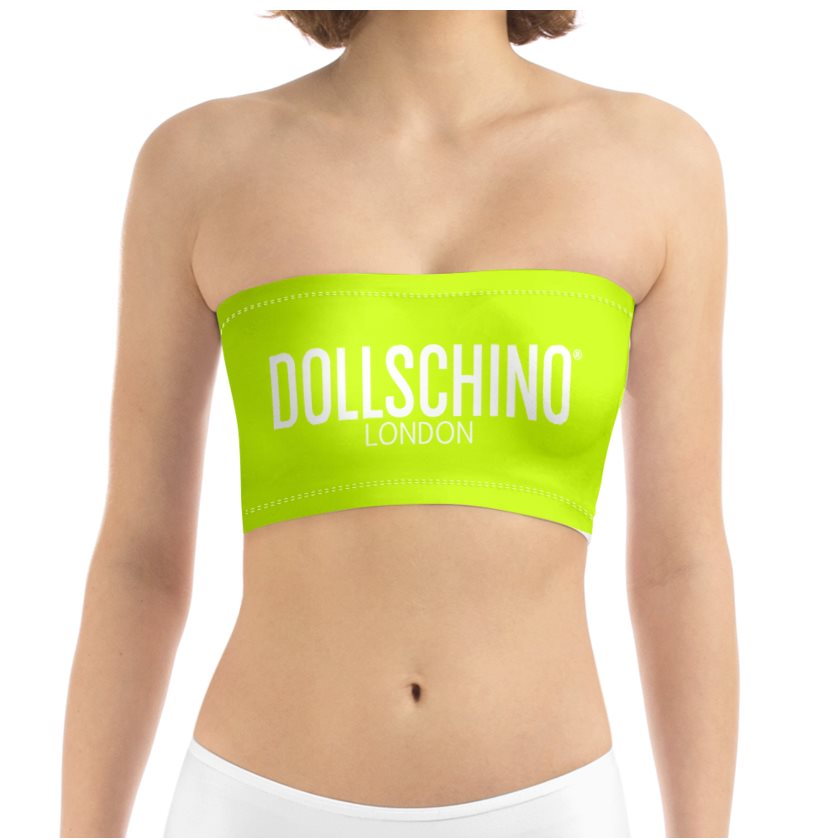 Dollschino London Fluorescent Neon Yellow Bandeau Top