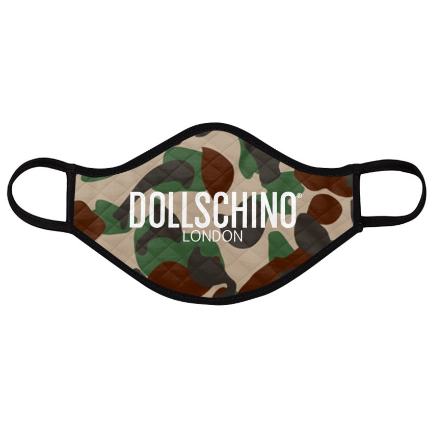 Dollschino London Camo Padded Face Mask