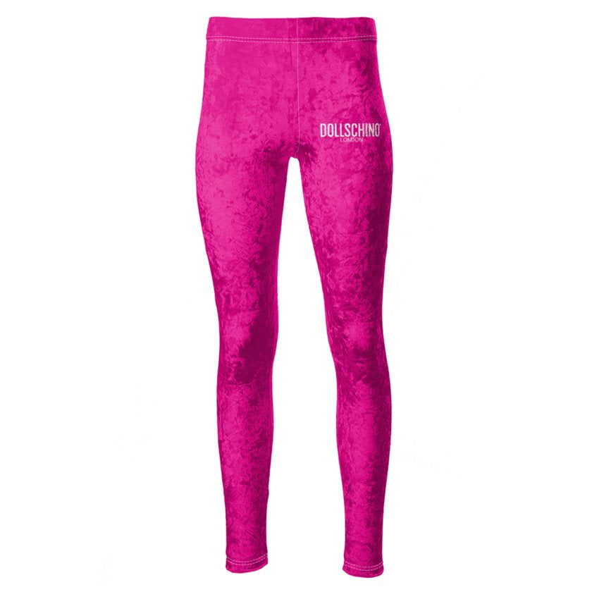 Dollschino London Hot Pink Velour Leggings