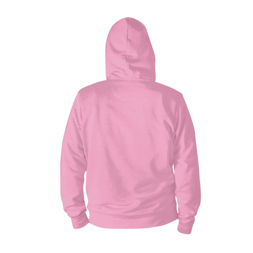 Dollschino London Baby Pink Zip Hoodie