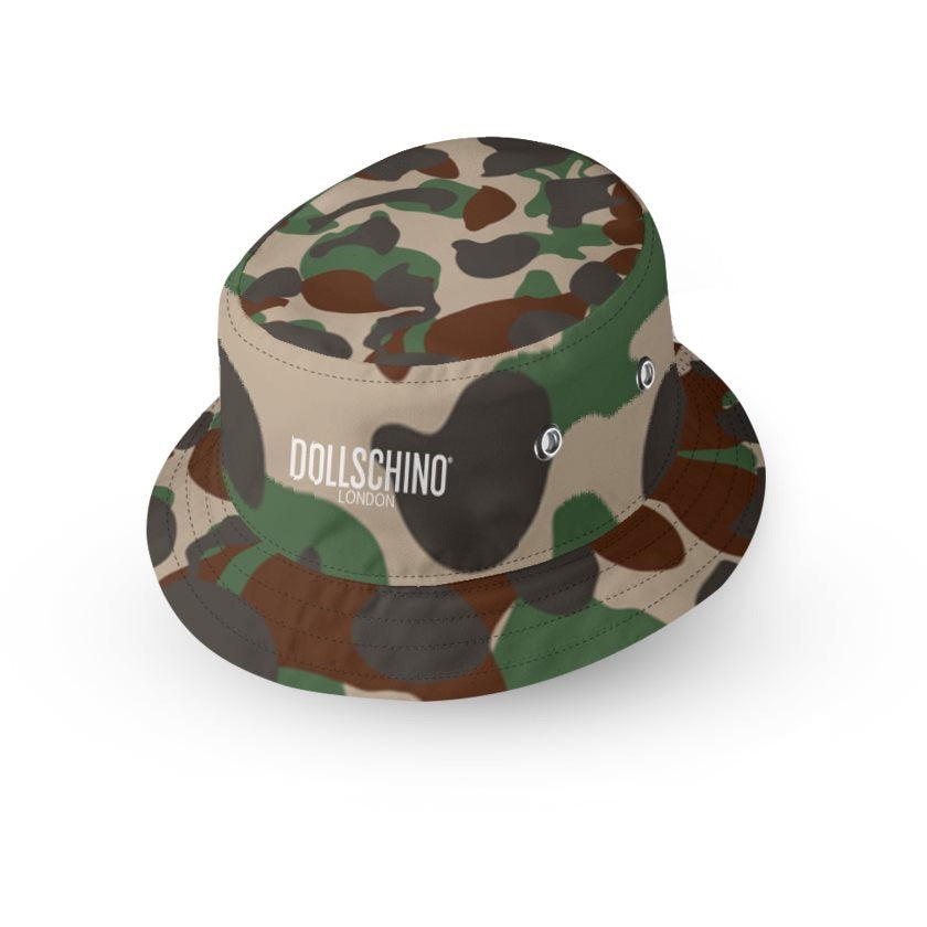 Dollschino London Mens Camo Bucket Hat