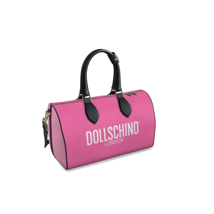 Dollschino London Bubblegum Pink & Baby Pink Leather Duffle Bag