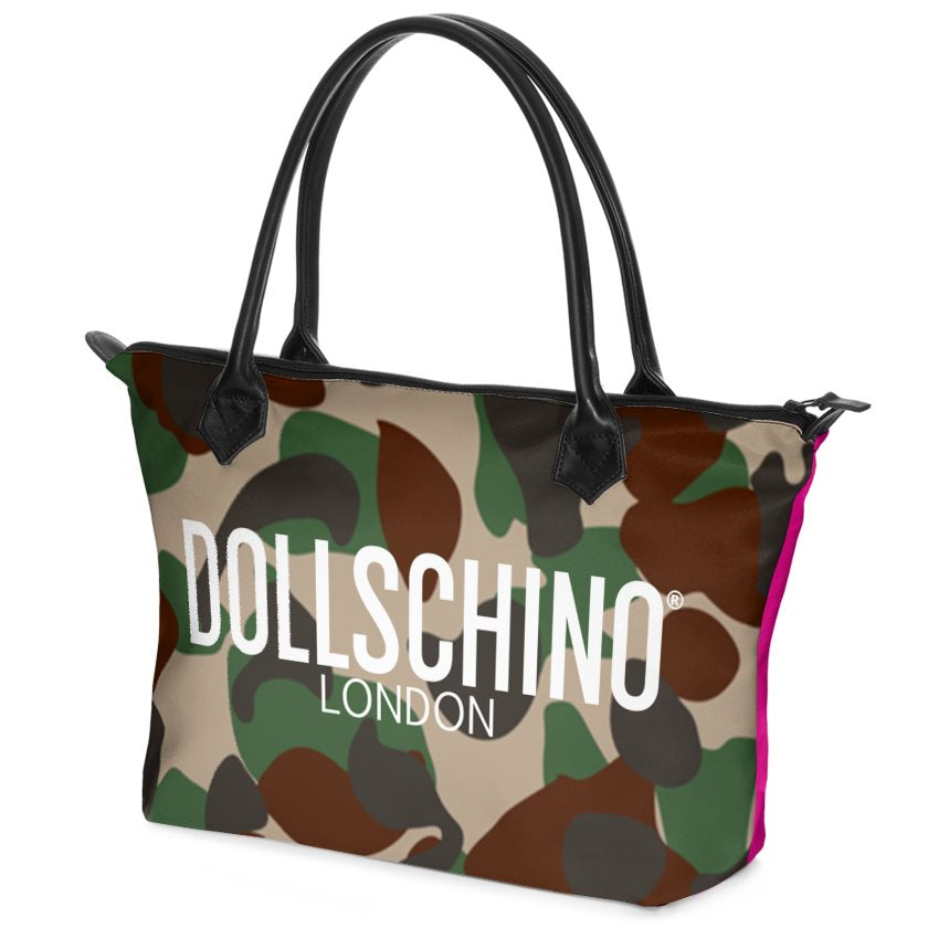 Dollschino London Camo & Hot Pink Handbag