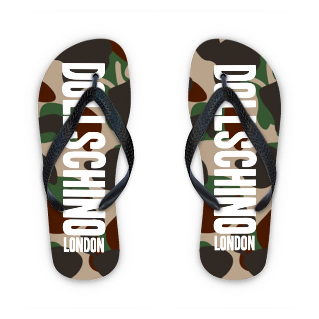 Men's Camo Graffiti Flip Flops