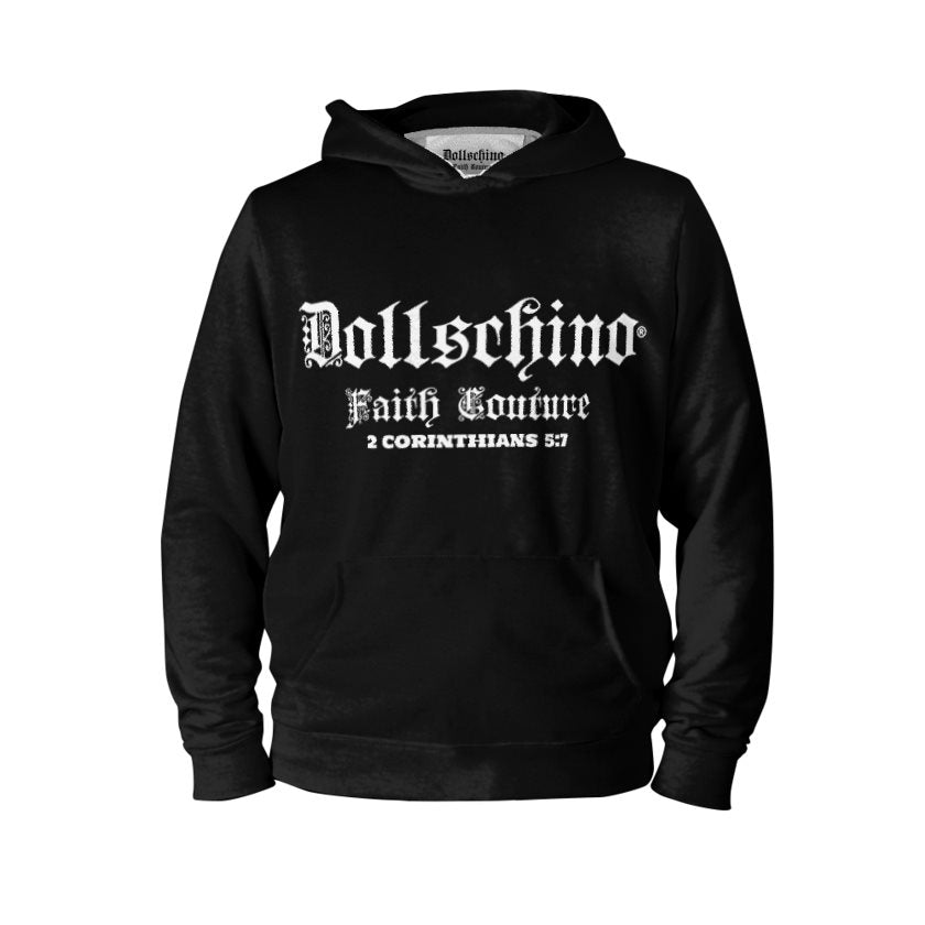 Dollschino London Faith Couture Black Pull-Over Hoodie